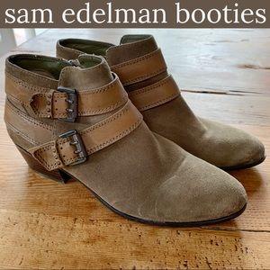 Sam Edelman Moss Suede Booties